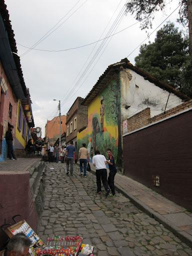 Alleyway in Candelaria, Bogota, Colombia