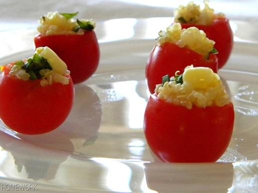 Quinoa Tomato Salad Bites