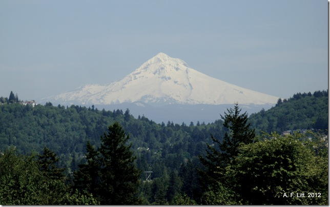 Mt. Hood from Powel Butte,  Portland, Oregon.  May 17, 2009.  Photo of the day, March 6, 2012.