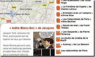 Carte des films dont un passage se droule en sous-sol  Paris