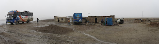 Our rest stop on the way from Uyuni to Potosí.  Snow/rain/slush and some very meager food options.