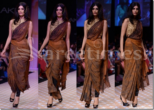 Archana_Kochhar_Brown_Saree