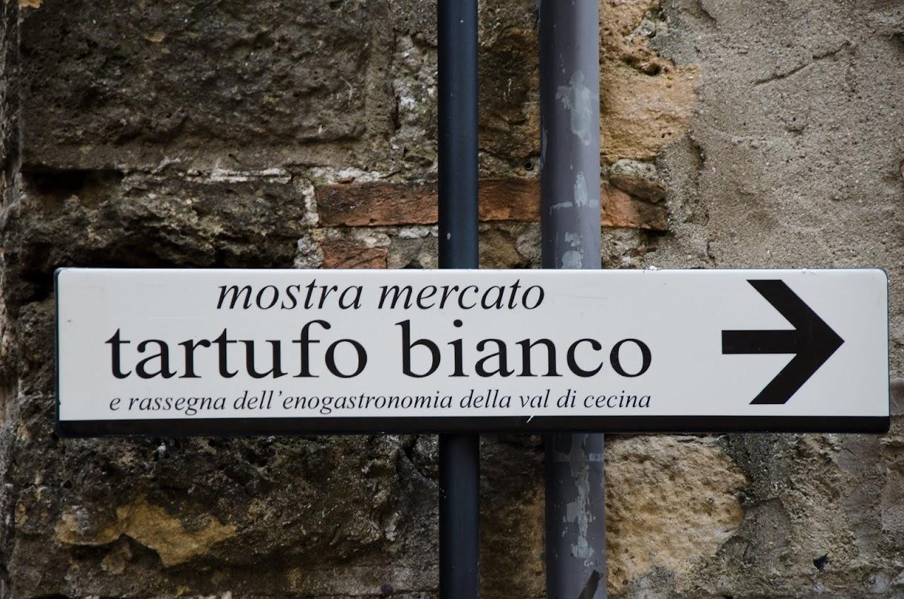 White truffle festival Volterra