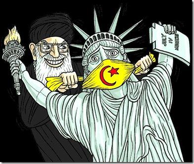 Mullah gags Lady Liberty