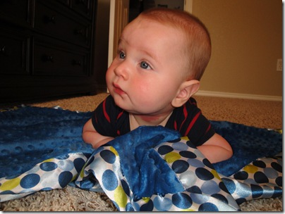 13.  Tummy time