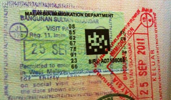 malaysia visa passport stamp