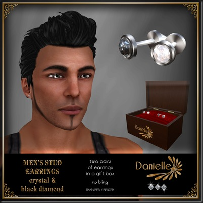 DANIELLE Men's Stud Earrings