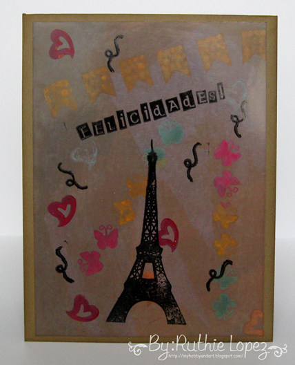 Color Paws - Vintage Card - Paris Card - Ruthie Lopez DT - My Hobby = My  Art 3