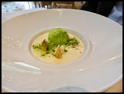 white asparagus and pea