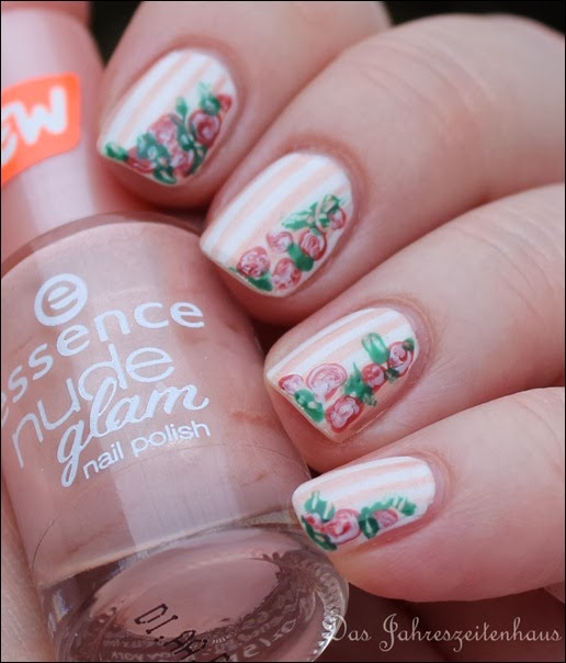 In Bloom Nail Art Roses Vintage Spring Design 4
