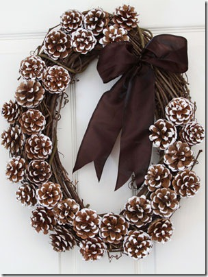 Oval Pinecone wreath