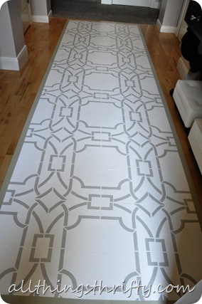 stenciled floor