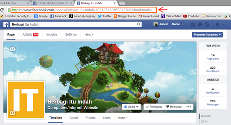 Cara Membuat Fans Page Facebook di Blog 02