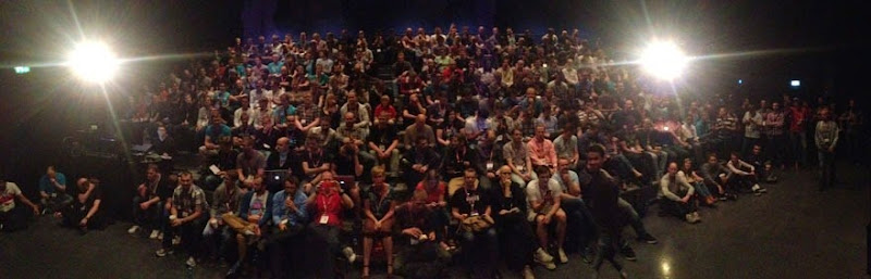 Photo of a packed room