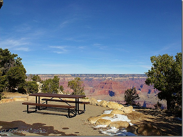 01 Picnic table with view of the canyon Mohave Pt Hermit Rd SR GRCA NP AZ (1024x768)