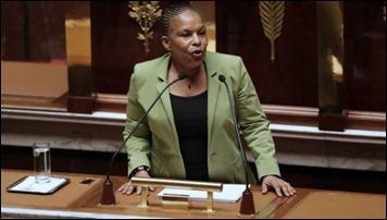 ministra da Justiça da França Christiane Taubira