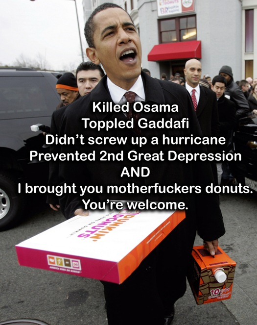 Obama brought you donuts