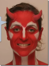 maquillaje de diablesa diabla demonia para halloween