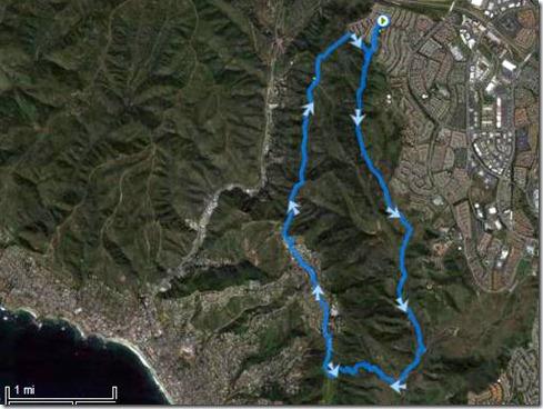 Aliso Woods - 9.5 loop up meadows 6-9-2011