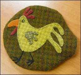 Wool Felt pincushion - Margaret's lovely work.