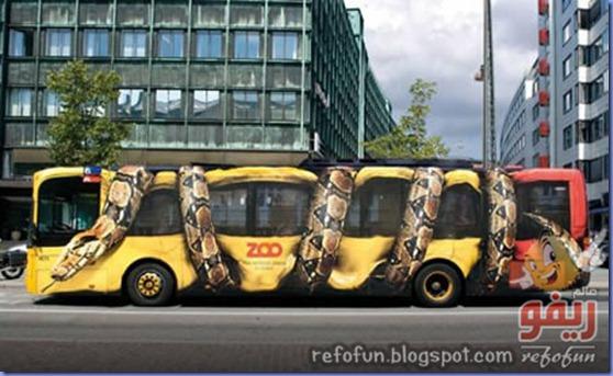 فن الاعلان على الحافلات عالم ريفو 11