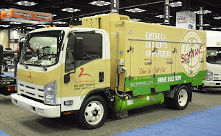 Isuzu displayed a Schwan Foods NPR with propane system by Bi-Phase Technologies at the at the Work Truck Show in Indianapolis.