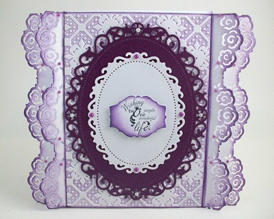 Purple Roses Wedding Card2