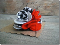 alabama felt flower pin