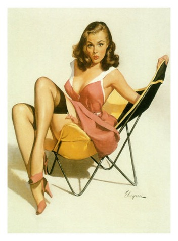 pin-up-girl-beach-chair