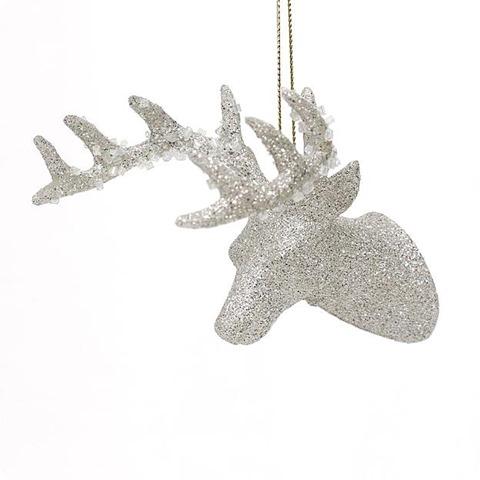 kmart glitter stag ornament