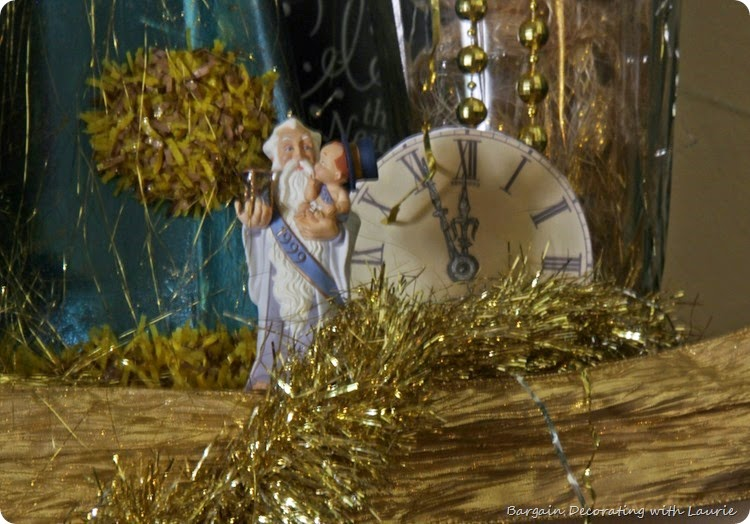 New Years Mantel-Bargain Decorating with Laurie