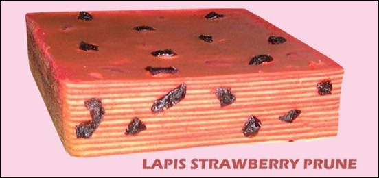 kek lapis strawberry prune