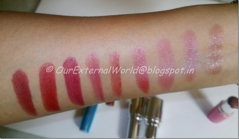 Lipstick Collection - 9 color swatches