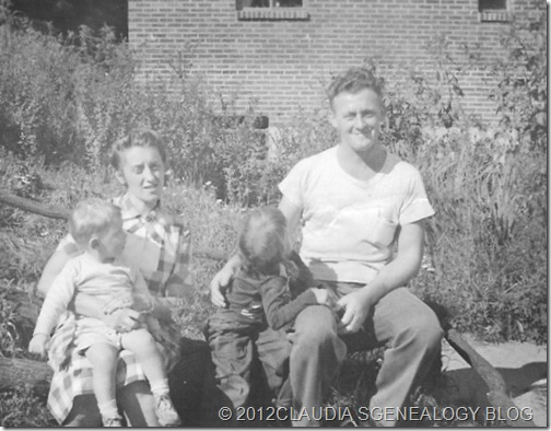 Thomas/Gerda/Claludia/Tommy Dowd c. 1950  Monroeville PA