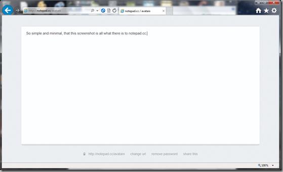 Notepad.cc screenshot