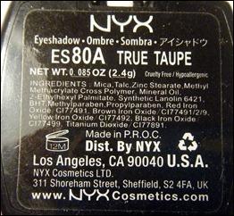 NYX True Taupe