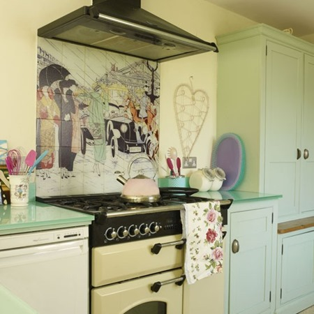 Yellow-and-Pale-Green-Country-Kitchen-Style-at-Home-Housetohome