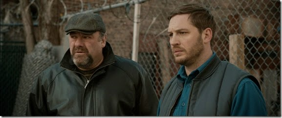 james gandolfini & tom hardy in THE DROP