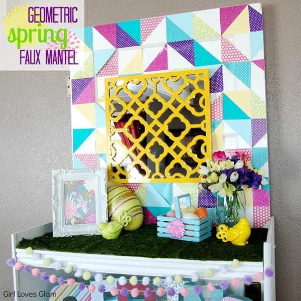 Geometric Spring Faux Mantel