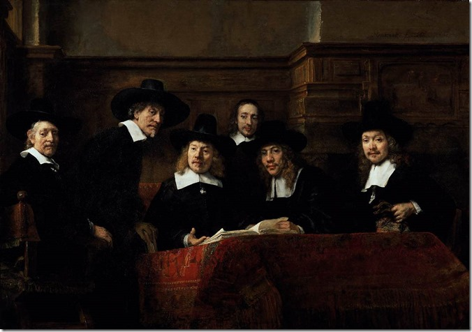 The Wardens of the Amsterdam Drapers' Guild, Known as 'The Syndics', Rembrandt Harmensz. van Rijn, 1662