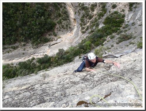 Via Gali-Molero 500m 6b  Ae (V  A1 Oblig) (Roca Regina, Terradets) (Victor) 0054