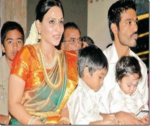 Dhanush Family Photos With Kids Indian-Actress-Stills:...