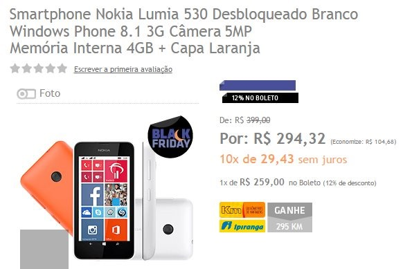 super oferta nokia lumia 530 o marrafone
