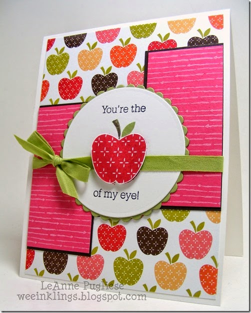 LeAnne Pugliese WeeInklings Papertrey Apple of my Eye Stampin