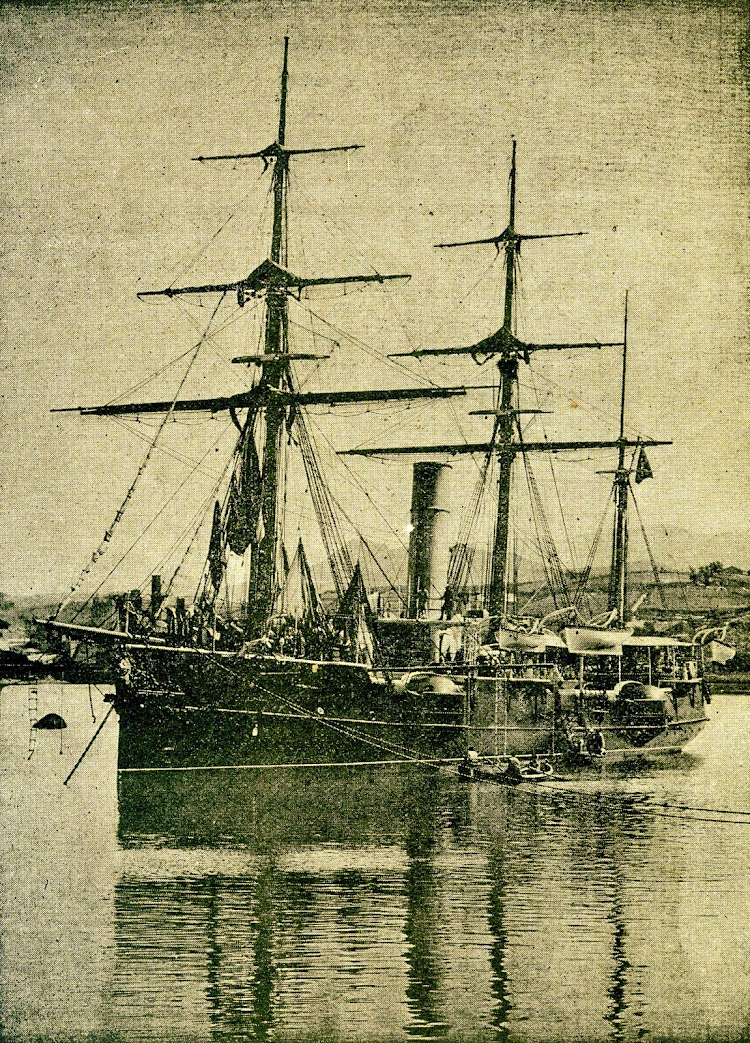 Bonita foto del CONDE DE VENADITO. Revista de Navegación y Comercio. Año 1895.jpg