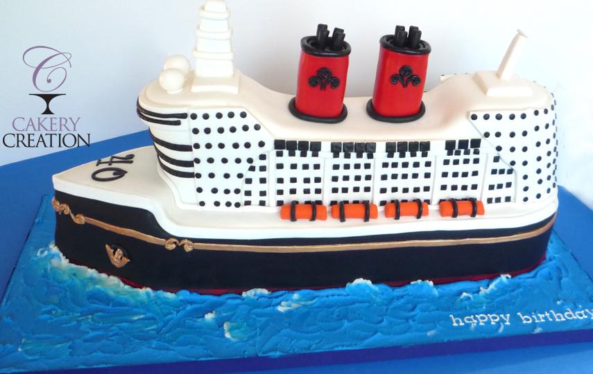 Cakery Creation D Cruise Ship Cake - Cruise ship cake