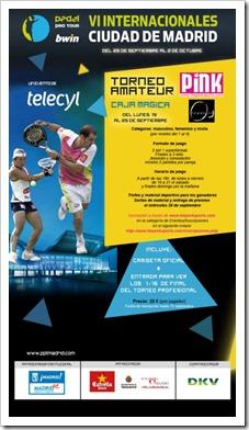 Torneo Amateur VI Internacionales Ciudad de Madrid en la Caja Mágica del 19 al 25 septiembre.