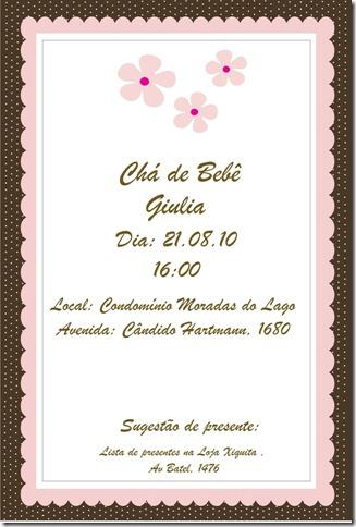 Convite cha Guilia Definitivo