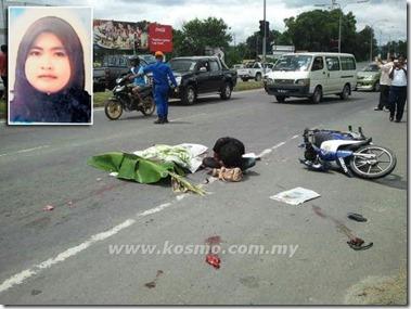 Meraung di sisi mayat kakak, Wanita 21 Tahun Kepala Pecah & Otak Bersepah Di Jalan Lok Kawi!