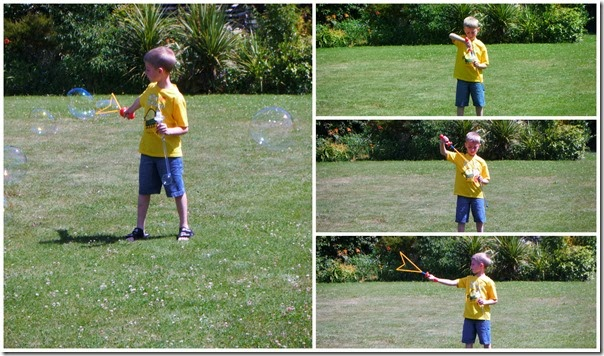 JACKSON MAKES BUBBLES
